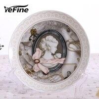 YeFine Keramik Kreative Geschenk Bone China Teller Klassischen Keramik Dessertteller Gebäck Gerichte Kuchen Obst Gerichte Großhandel