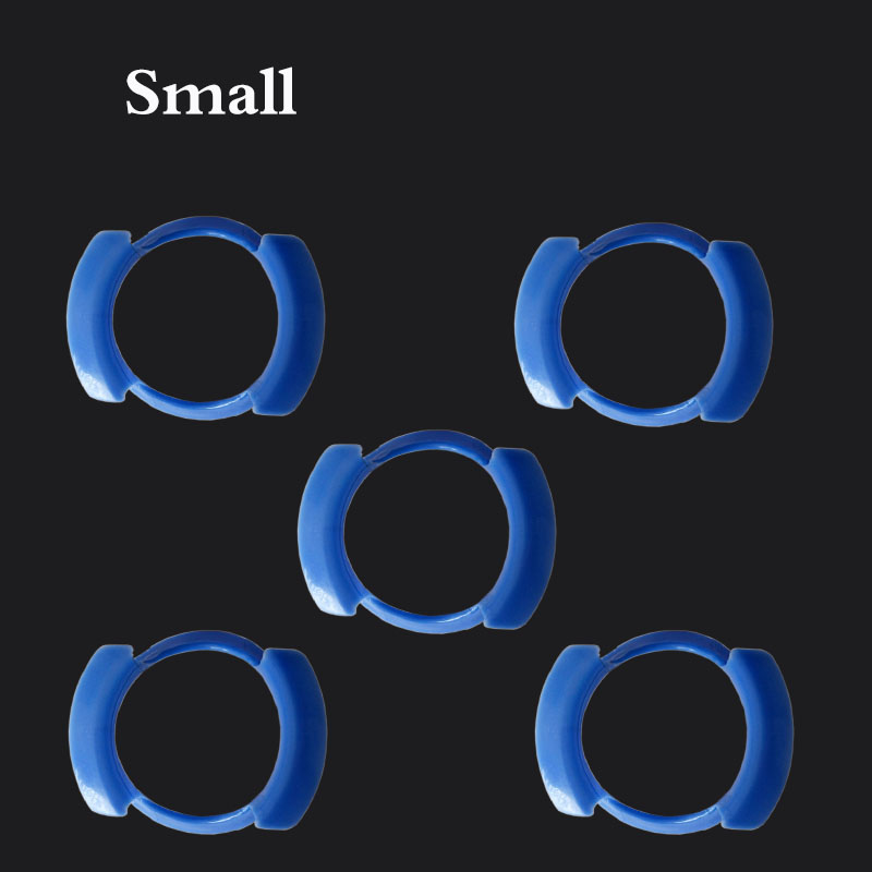 10 pcs/lot Dental Cheek Retractor Mouth Opener Lip Expander O-shape Small Size Blue