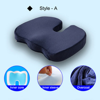 Memory Foam Gel Seat Cushion Non Slip Back Pain Sciatica Relief Chair Cushions for Home Office Car LXY9