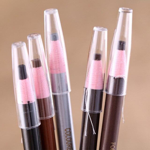2018 New Sobrancelha Eyebrow Stamp Beauty Makeup Brand Pencil, Waterproof Enhancer Soft Thread Pencil Paper Roll Eyeliner Gel 4