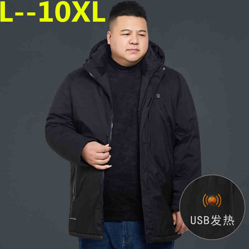 10XL 8XL 6XL 5X Brand Winter Jacket Men Clothes 2018 Casual Hooded Collar Fashion Winter Coat Men   Parka   Outerwear Warm loose fit
