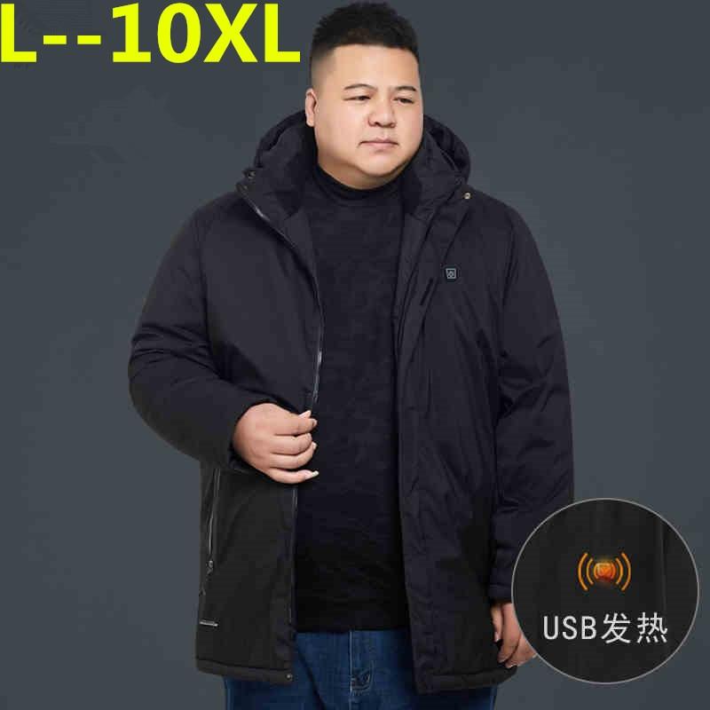 10XL 8XL 6XL 5X Brand Winter Jacket Men Clothes 2018 Casual Hooded Collar Fashion Winter Coat Men Parka Outerwear Warm loose fit
