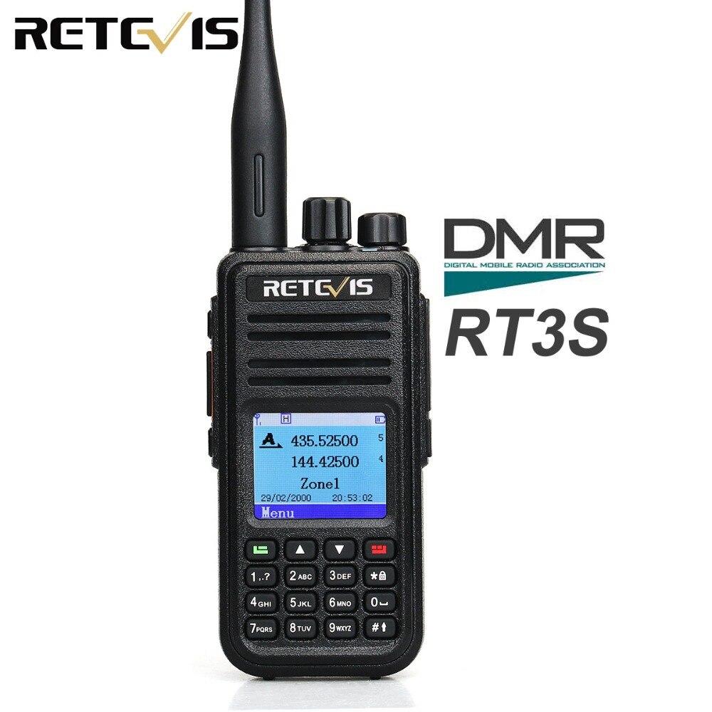 Retevis RT3S Double Bande Radio DMR Numérique Talkie Walkie VHF UHF GPS DCDM TDMA Jambon Radio Amateur Hf Émetteur-Récepteur