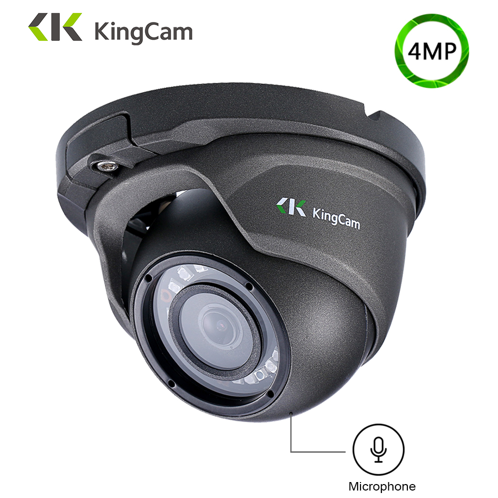 KingCam Metal Anti-vandal POE IP Camera 2.8mm Lens Wide Angle 1080P 4MP 5MP Security ONVIF CCTV Surveillance Dome SMD IP Cam