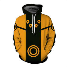 2018 new fashion Cool sweatshirt Hoodies Men women 3D print Naruto Five elements seal hot Style Streetwear sleeve Long clothes