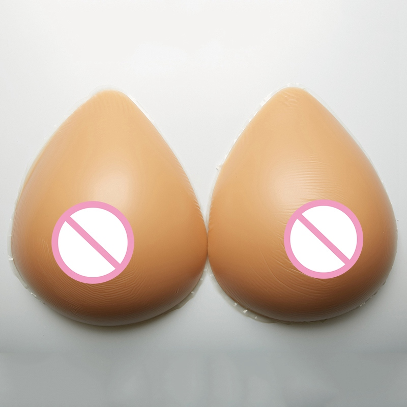 free shipping artificial silicone breast forms for cross dressing deep cleavage fake bra male transgender 3600g pair beige color 1200g/pair Crossdressers Silicone Breast Forms Transgender Shemale Fake Boob Ehhancer Mastectomy Artificial Fake Breast