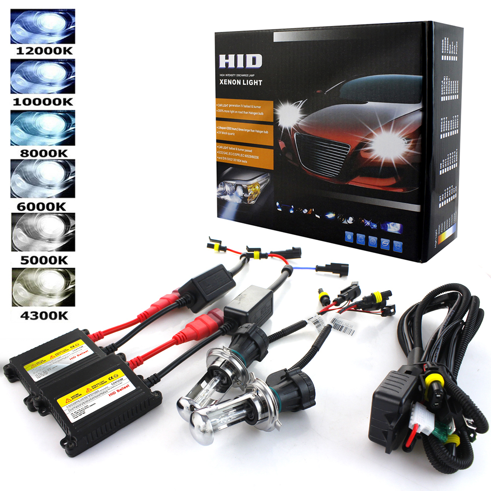 цена на Xenon H7 35W AC 55W Slim Ballast kit HID Xenon Headlight bulb 12V H1 H3 H11 h7 xenon hid kit 4300k 6000k Replace Halogen Lamp