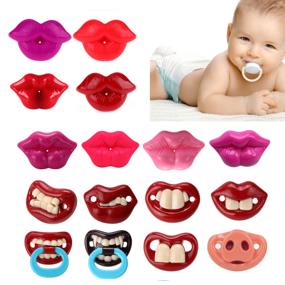 Silicone Funny Baby Pacifier Dummy Nipple Teethers Toddler Pacy Orthodontic Nipples Teether Baby Pacifier Christmas Gift