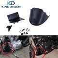 Preto Motor Inferior Chin Spoiler Dianteiro Carenagem Capa com LOGO Para Harley Davidson Sportster 1200 883 XL 2004 2015 # P111