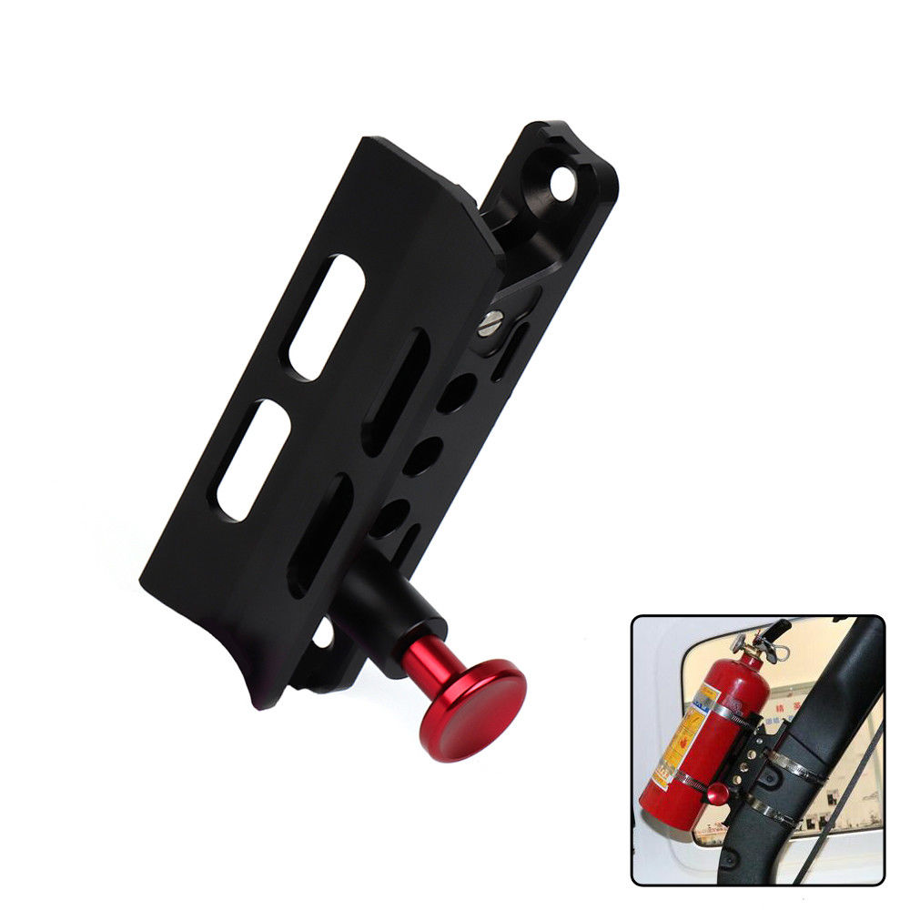 KEMiMOTO UTV Off Road Roll Cage Fire Extinguisher Holder for Polaris RZR Ranger for Honda for Can Am Commander Jeep Wrangler adjustable 2 heavy duty round sport mirror for polaris ranger and rzr and rzr s and xp perimeter for can am commander cage