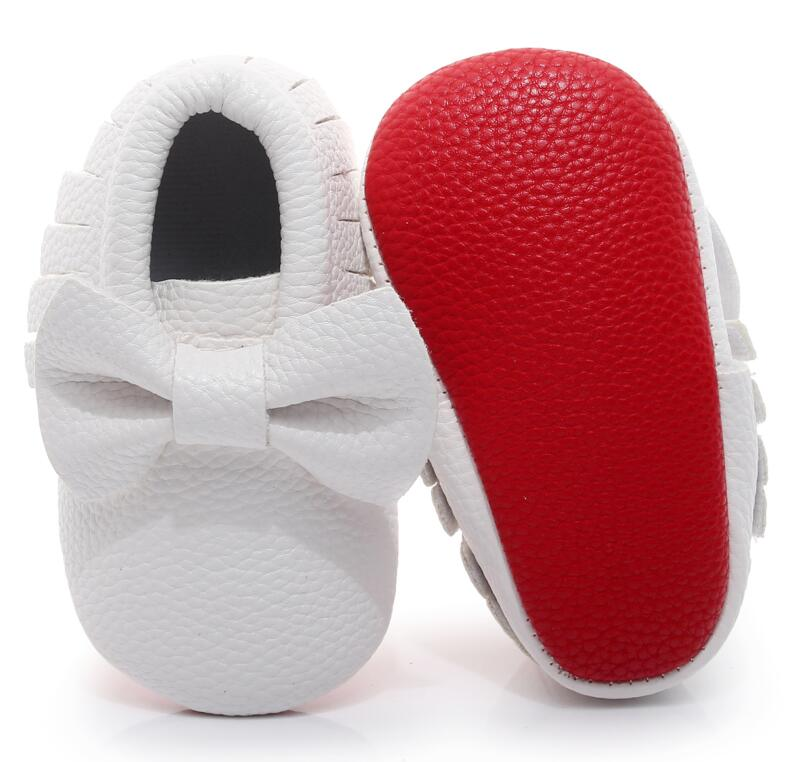Baby Moccasins Shoes Footwear Soft-Soled Newborn Baby-Boy-Girl Bebe-Fringe Non-Slip Red