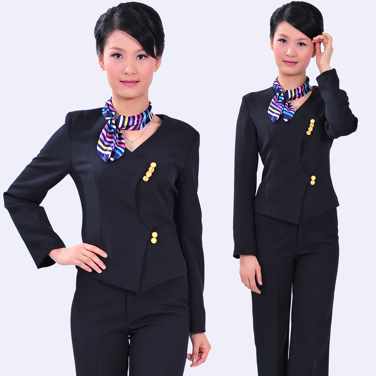 C93 Work Wear Womenu0027s Set Front Desk Uniform Autumn Female Work Wear Autumn  And Winter In Pant Suits From Womenu0027s Clothing U0026 Accessories On  Aliexpress.com ...