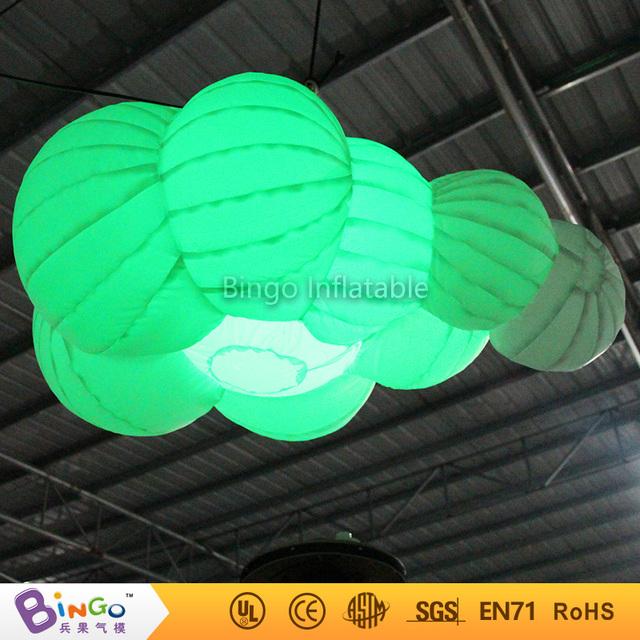 Partido llevó la iluminación de la decoración inflable nube 1.6 metros Juguetes del Light-Up