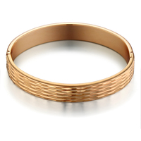 Luxury Brand Jewelry Wholesale, Cute Embossing Gold Color European Style Indian Bangles For Women, Imported China Unique Gifts