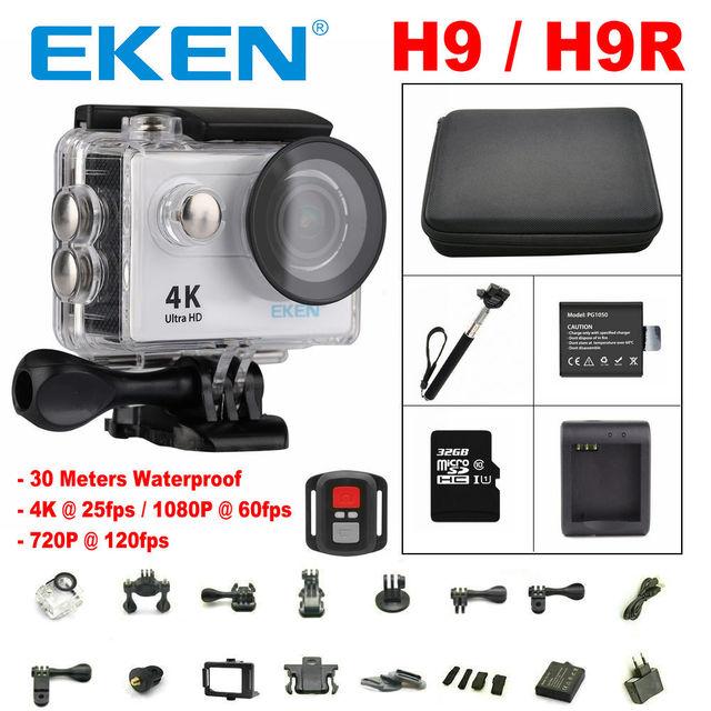Original EKEN H9/H9R câmera Ação Wi-fi Ultra HD 4 K vídeo 1080 p/60fps ir pro câmera à prova d' água Esporte Venda Quente DV