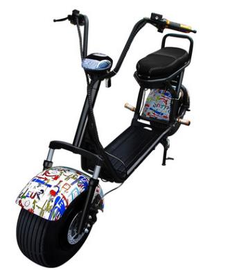 Citycoco Étanche trottinette électrique De Voiture batterie au lithium 60 V 1500 W Moto Électrique Motor0ycles Électrique Moto