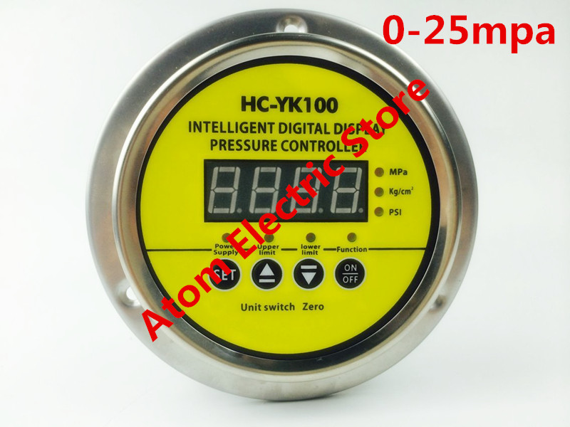 0-25 mpa  AC220V  Digital display electric contact pressure gauge digital controller dmx512 digital display 24ch dmx address controller dc5v 24v each ch max 3a 8 groups rgb controller