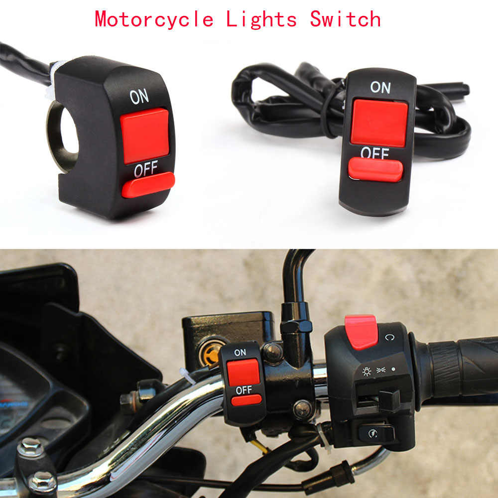ON/OFF Button Connector Push Button Switch Motor ATV Switches Handlebar Switches Motorbike Accessories