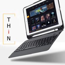 Чехол для iPad 9,7 2017 2018 ультра тонкий беспроводной Bluetooth клавиатура чехол для iPad 5 / 6 / Air 2 / Pro 9,7