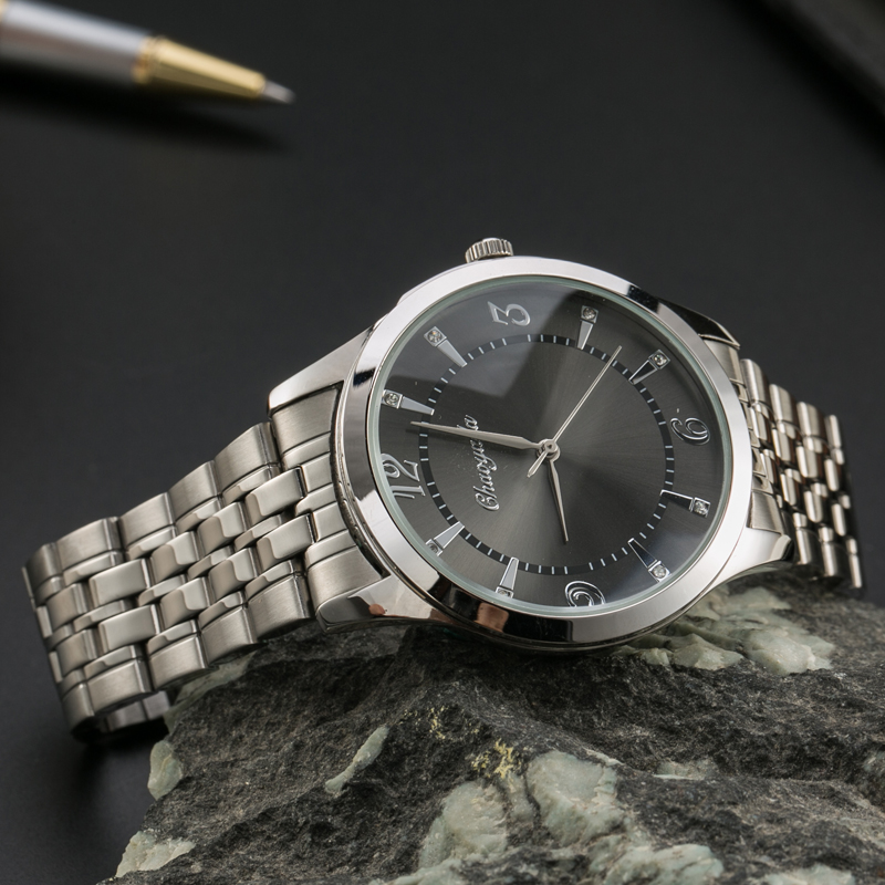 2018 Famous Men Lovers Luxury Rhinestone Dress Business Stainless Steel Waterproof Wristwatch Quartz Father's Day Adults' Gifts
