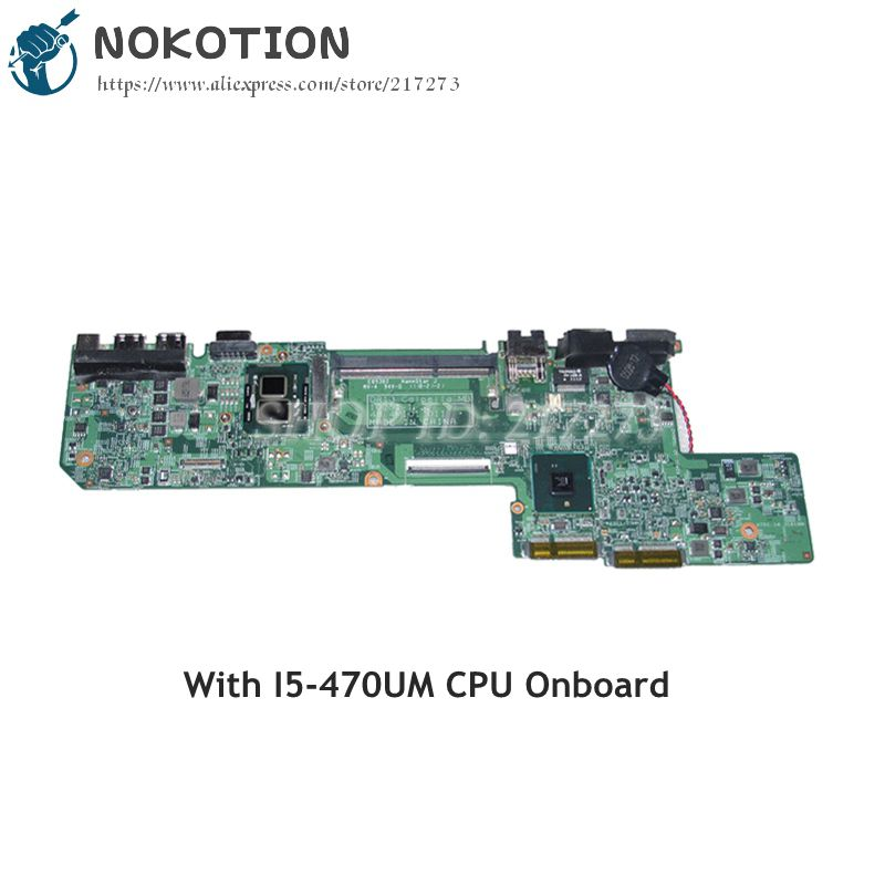 NOKOTION For Dell Vostro 130 V130 Laptop Motherboard I5-470UM CPU DDR3 HM57 CN-01GM76 01GM76 10251-1 48.4M101.011 nokotion laptop motherboard for dell vostro 3500 cn 0w79x4 0w79x4 w79x4 main board hm57 ddr3 geforce gt310m discrete graphics