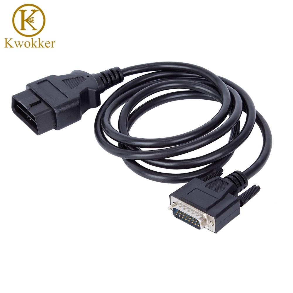 Кабель-удлинитель KWOKKER, 5 футов, 16 контактов, OBD2, штекер-штекер, кабель DB9-VGA, кабель-удлинитель для диагностики автомобиля, 156 см