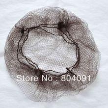 """Нейлоновая сетка для волос fines hair net Nelon с """"эластичным краем"""" темно-коричневого цвета"""