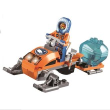 10437 BELA City Polar Adventure Arctic Snowmobile Model Building Blocks Enlighten DIY Figure Toys For Children