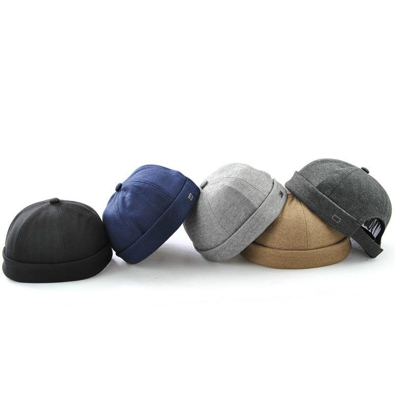 Hip Hop Solid Cotton   Skullies     Beanies   Casual Autumn Summer Pumpkin Hat Fashion 2018 New Skullcap Casquette Pumpkin Hat   Beanies