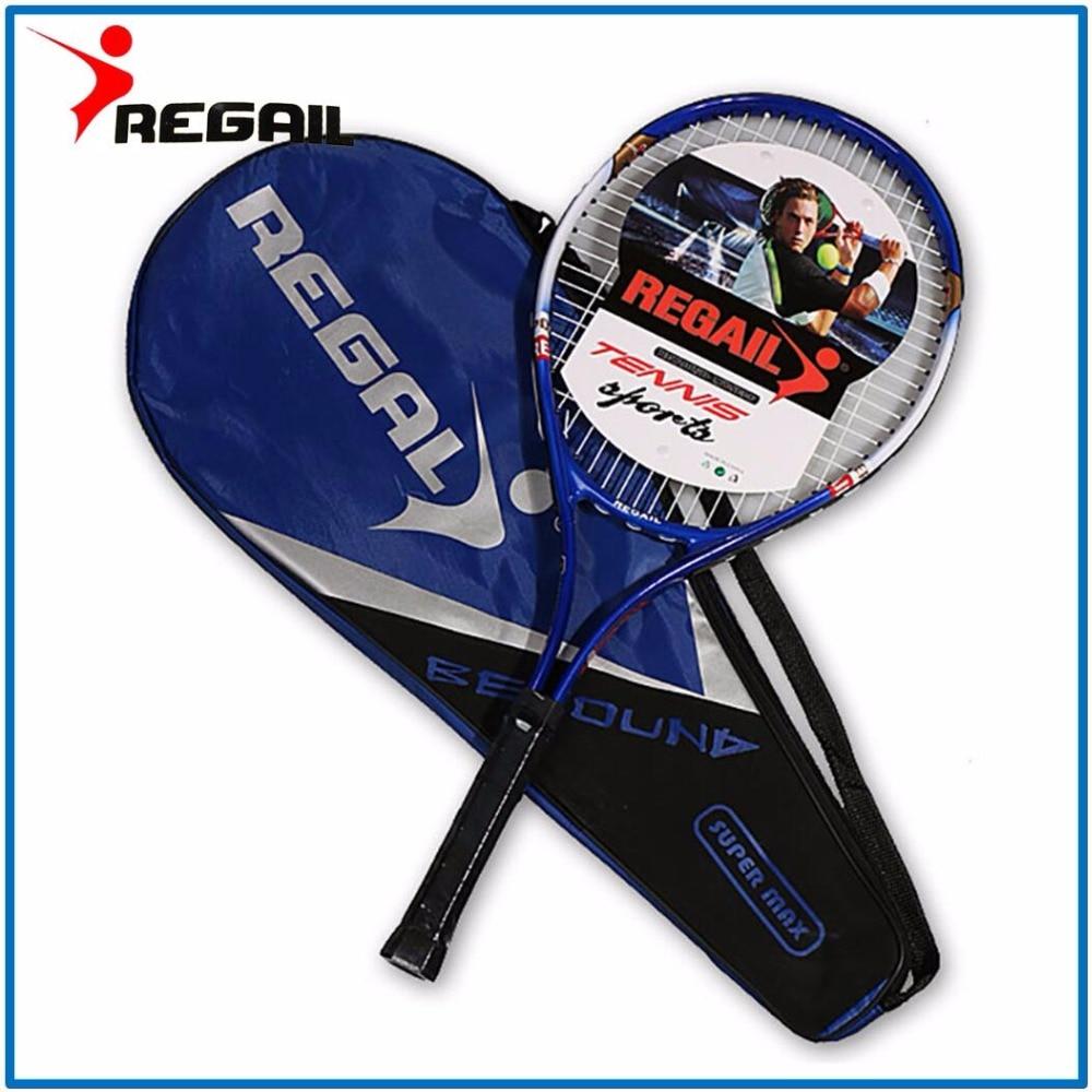 1 Pcs High Quality Aluminum Alloy Tennis Racket Racquets Equipped With Bag Tennis Grip Size 4 1/4 Racchetta Da Tennis Free Bag