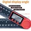 0 200mm 8 דיגיטלי מד זווית Inclinometer זווית דיגיטלי שליט אלקטרונים Goniometer מד זוית זווית finder מדידת כלי
