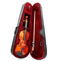 ADDFOO Size 3/4 Natural Violin Basswood Steel String Arbor Bow Craft Stripe Fiddle For Beginners