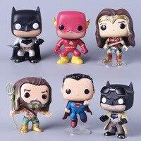 13 Стиль DC супер герой Лига Справедливости фигурка Аквамен Бэтмен вспышка чудо женщина киборг Супермен игрушки с коробкой коллекция игрушек