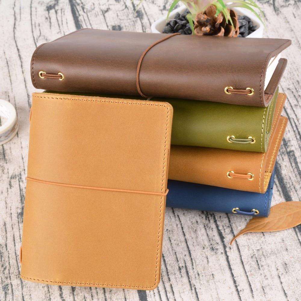 100% Äkta Läder Notebook Planner Handgjorda Bullet Journal Oljevax - Block och anteckningsböcker - Foto 6