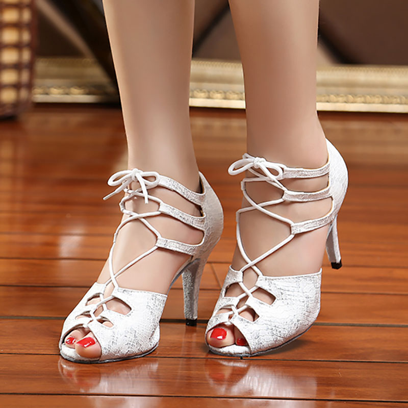 YC04 EU33 41New Snakeskin Dance Shoes Salsa Ballroom Latin Dance Shoes Dance Shoes Performance Dance Shoes