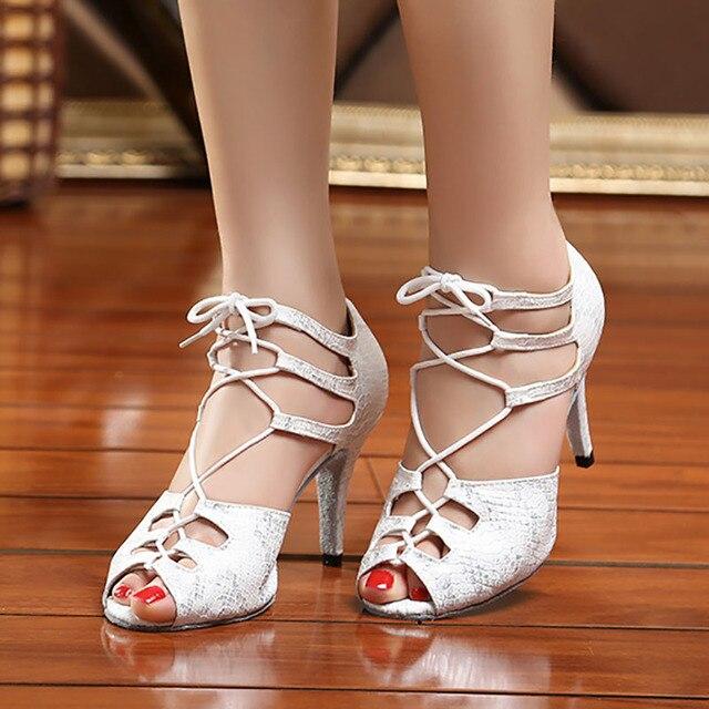 1a3ca2412 YC04 EU33-41New Snakeskin Dance Shoes Salsa Ballroom Latin Dance Shoes  Dance Shoes Performance Dance Shoes All Size