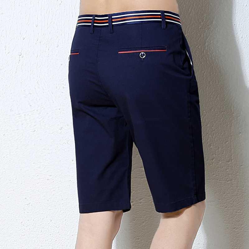 กางเกงขาสั้นผู้ชาย 2017 แบรนด์แฟชั่นฤดูร้อนกางเกงขาสั้นบุรุษ Casual Cotton Slim Masculina กางเกงขาสั้นชายหาด Upscale ชายสั้น