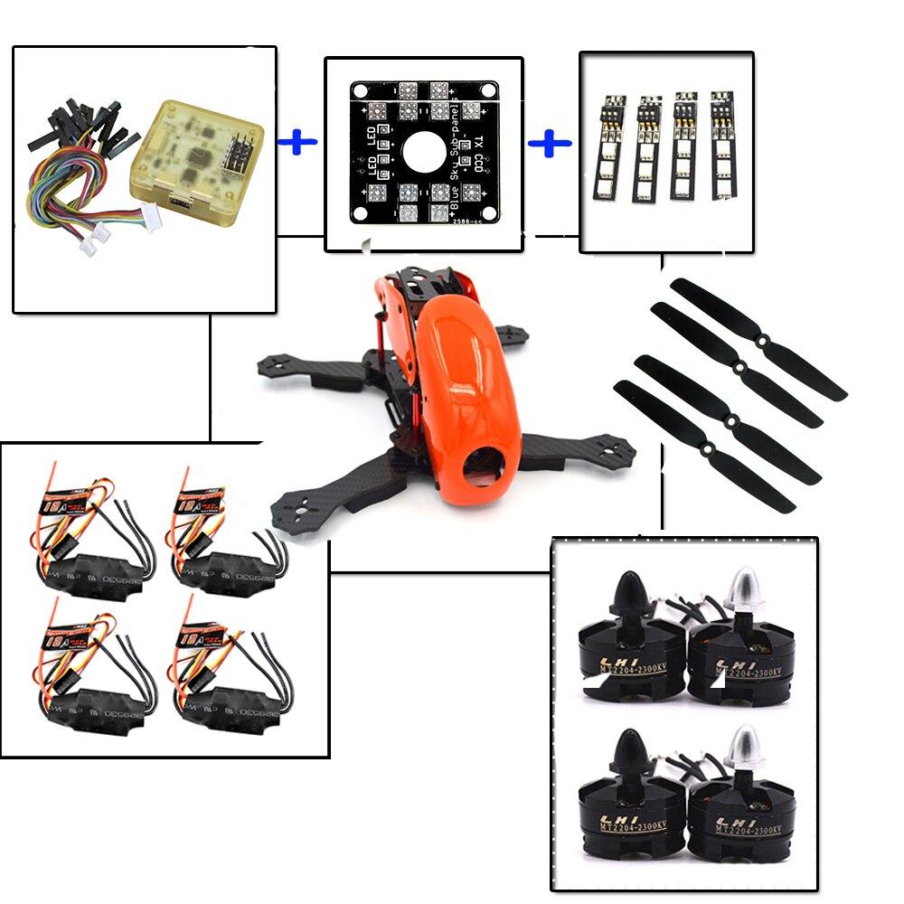 Robocat 4-Axis Carbon Fiber Quadcopter Frame CC3D LHI 2204 Motor 12A ESC props ~RC01 Orange tarot robocat 250 fpv carbon fiber quadcopter kit tl250c frame 1806 motor 12a esc 6inch prop mini cc3d pal ntsc camera