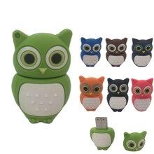 hot deal buy cute owl usb 2.0 flash drives external storage pendrive 64gb 32gb 16gb 8gb 4gb 2gb cartoon usb flash disk best gift