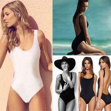 Women One Piece Bikini Backless Swimsuit Padded UP BeachWear Swimwear Underwear Solid Girls Bathing Suit