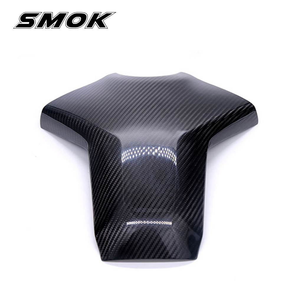 SMOK Motorcycle Accessories Carbon Fiber Rear Tank Cover Pad Protector For Yamaha MT09 MT-09 MT 09 FZ-09 FZ09 FZ 09 2013-2017 motorcycle engine cover protection case for mt 09 mt09 fz 09 fz09 2013 2017