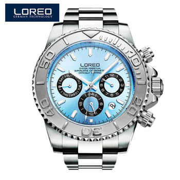 LOREO Diving series Men Wrist Watch Top Luxury Brand 200M Waterproof Steel Watchband Male formal Sports Mechanical Clock - DISCOUNT ITEM  44% OFF All Category