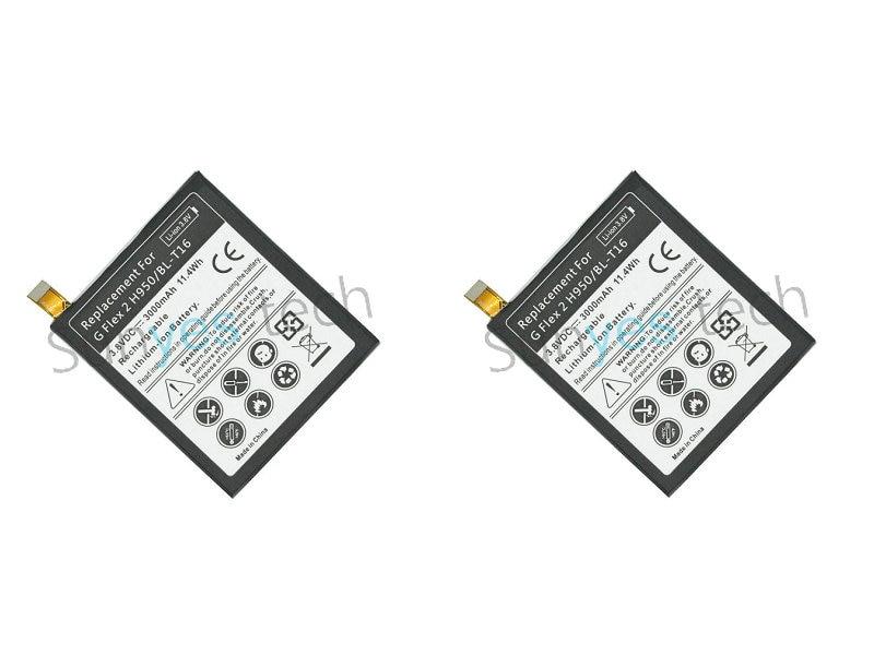 imágenes para 2 unids/lote BL-T16 de 3000 mAh Batería de Repuesto Para LG G flex 2 Vu 4 Vu4 H950 H955 H959 US995 LS996 H955A Batterie Bateria batería