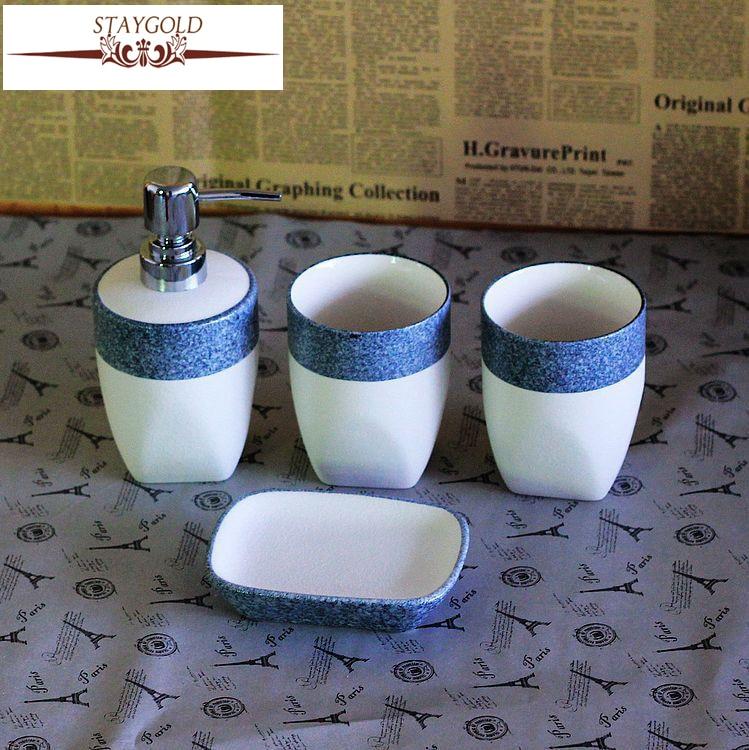 Ceramica Sanitaria Del Mediterraneo.Us 39 92 Sanitari 4 Volte Sanitari In Ceramica Set Di Gruppo In Stile Mediterraneo Prodotti Accessori Per Il Bagno Di Lusso Set 1 Set In Sanitari 4