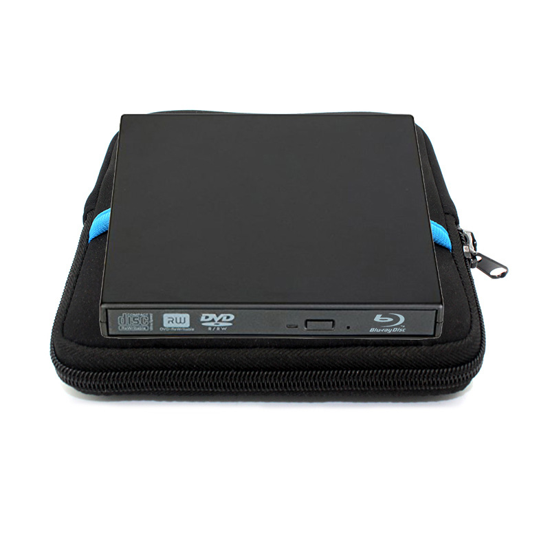 USB 2.0 Bluray External CD/DVD ROM BD-ROM Optical Drive Combo Blu-ray Player Burner Writer Recorder for Laptop Comput +Drive bag usb ide laptop notebook cd dvd rw burner rom drive external case enclosure no17