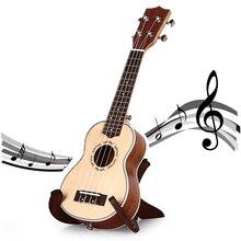 Ладу сапели уке струнный палисандр ель сопрано укулеле естественный гравировка четыре