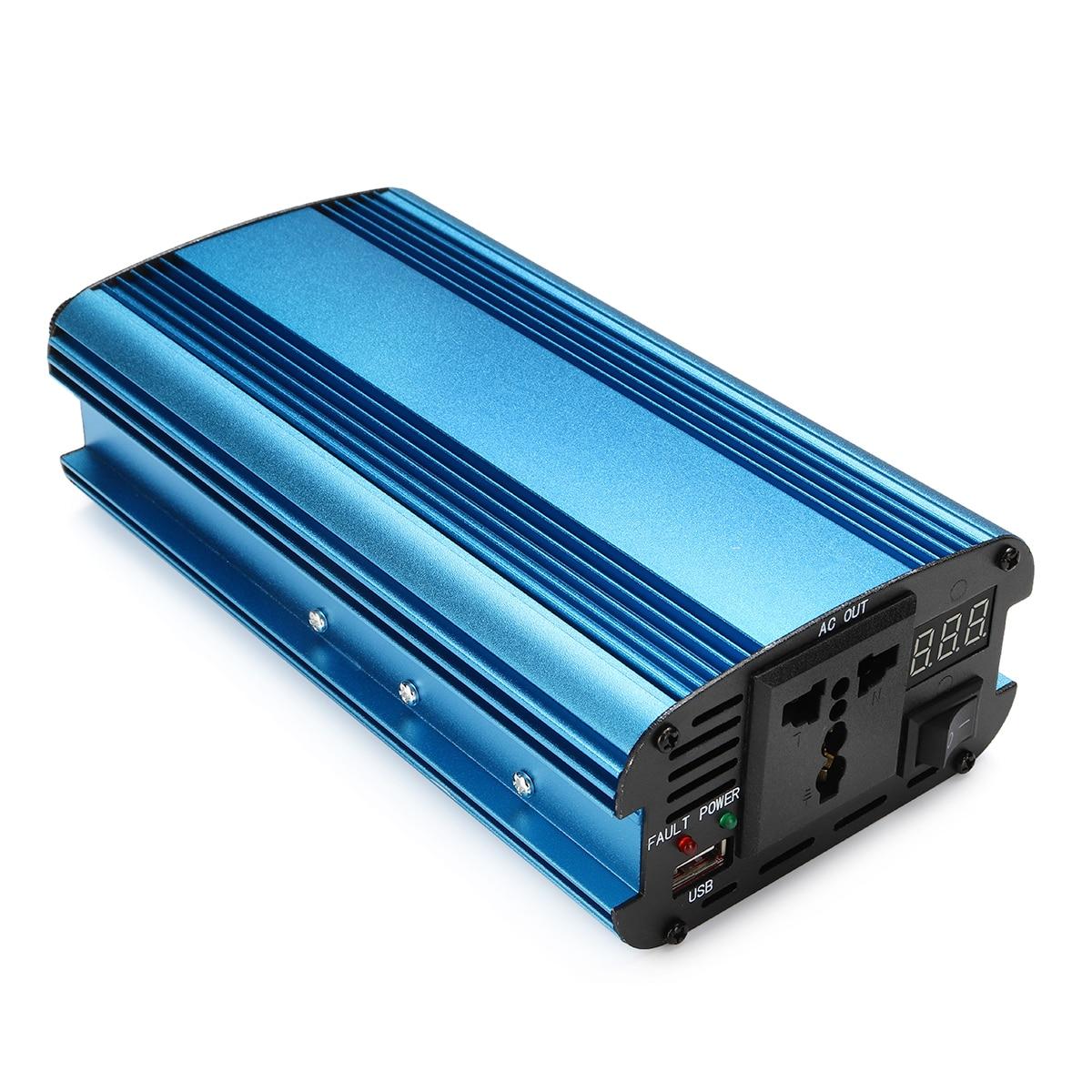 LED 12/24V DC do 220V 3000 W/4000 W falownik solarny AC zmodyfikowany falownik sinusoidalny wbudowany wentylator chłodzący przełącznik ręczny