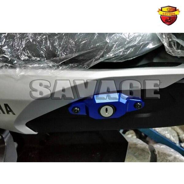 Accesorios de la motocicleta del cnc de aluminio de bloqueo del asiento tapa cub