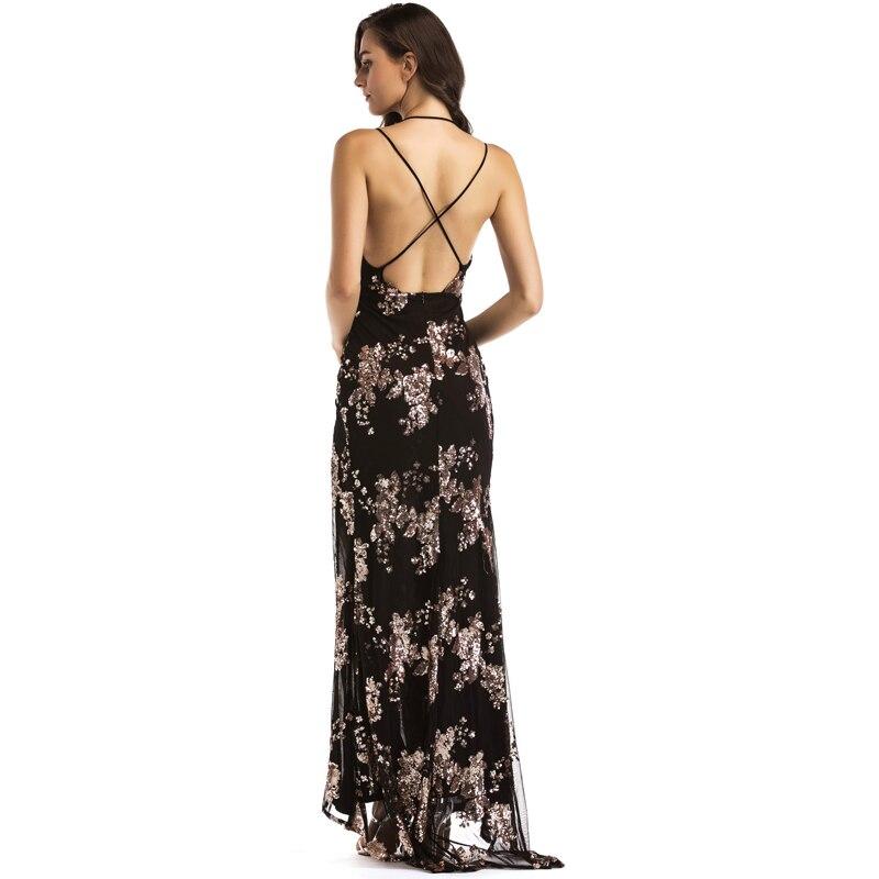 Bonnie Foresta Popolare Black Gold Sequin Maxi Vestito Da Sera Elegante  Paillette Veste Sexy Alta Fessura Vestito a Bustino Abiti Da Festa in  Bonnie Foresta ... 44c58f1a2a3