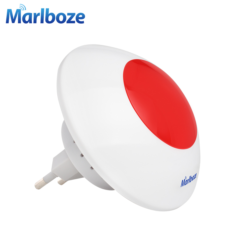 New 1pcs 433mhz Wireless Strobe Siren For G18 8218G G11 PG500 GSM01 Home Security Alarm Host